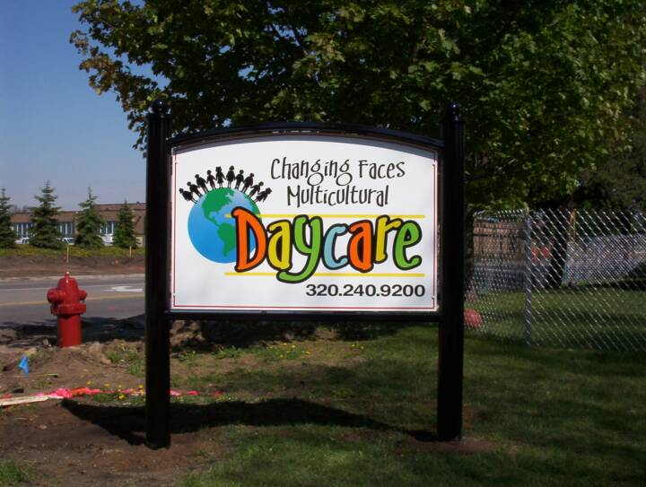 daycare signs and banners